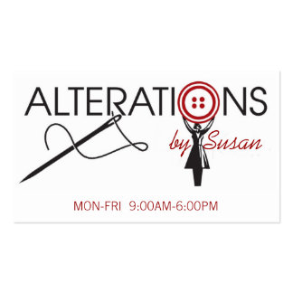 Alteration, Clothing, Tailor, Seamstress Pack Of Standard Business Cards