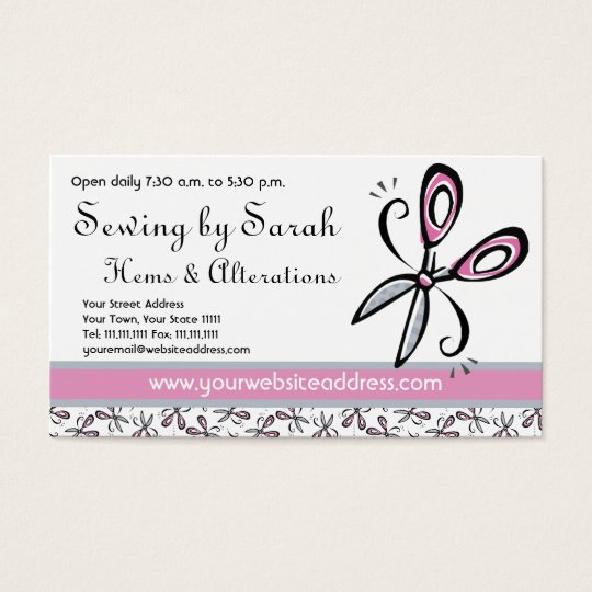 Alterations Shop, Seamstress or Tailor's Shop Business Card