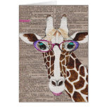 Altered Art Funky Giraffe Shirt Stationery Note Card