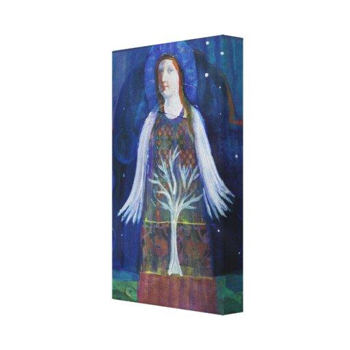 Altered Art Vintage Angel Canvas Prints