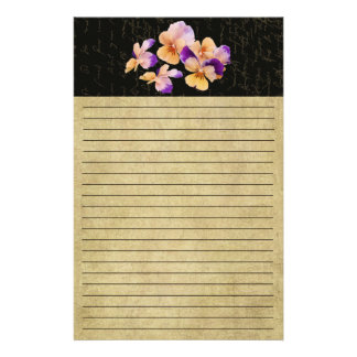 Altered Colorful Pansy's- Colorful Stationery