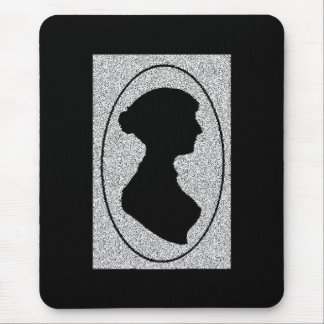 Altered Jane Ausetn silhouette Mouse Pad