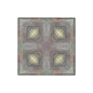 Alternate Dimensions Tiled Abstract Stone Magnet