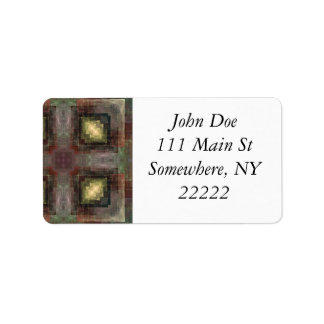 Alternate Dimensions Tiled Abstract Address Label