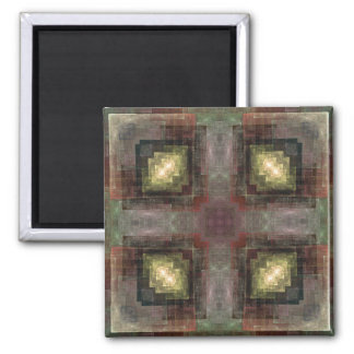 Alternate Dimensions Tiled Abstract Refrigerator Magnet