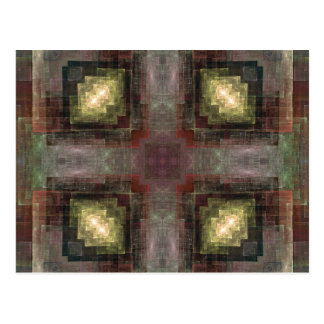 Alternate Dimensions Tiled Abstract Postcard
