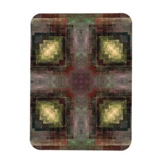 Alternate Dimensions Tiled Abstract Rectangular Magnet