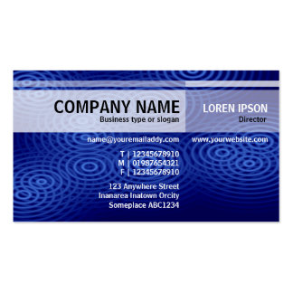 Alternate Tones - Electric Rain (Blue) Pack Of Standard Business Cards
