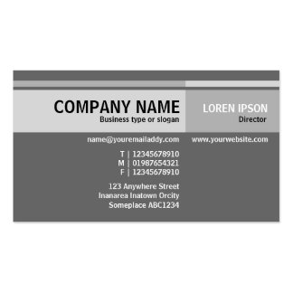 Alternate Tones - Gray Double-Sided Standard Business Cards (Pack Of 100)