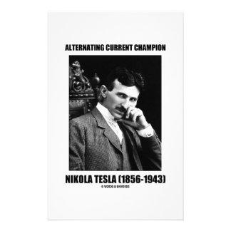 Alternating Current Champion Nikola Tesla Customized Stationery
