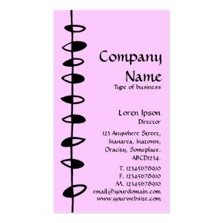 Alternating Leaves - Black on Pale Pink FFCCFF Business Card