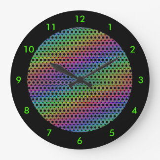 Alternative circles retro wall clocks