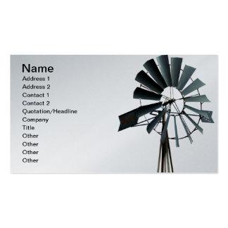 Alternative Energy - Pinwheel Windmill Power Business Card