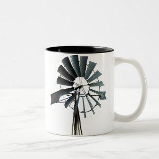 Alternative Energy - Pinwheel Windmill Power Two-Tone Coffee Mug