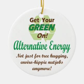 Alternative Energy Round Ceramic Decoration