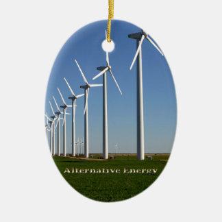 Alternative Energy - The Green Power Ceramic Oval Decoration