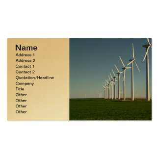 Alternative Energy - The Green Power Pack Of Standard Business Cards