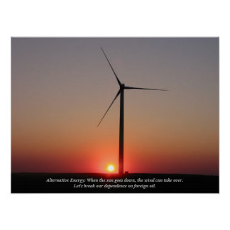 Alternative Energy: Wind & Solar Poster
