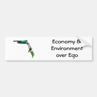 alternative-fuel, Economy & Environment over Ego Car Bumper Sticker