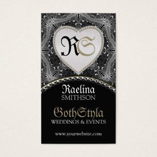 Alternative Gothic Dark Events & Wedding Planner Business Card
