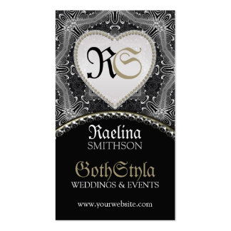 Alternative Gothic Dark Events & Wedding Planner Pack Of Standard Business Cards