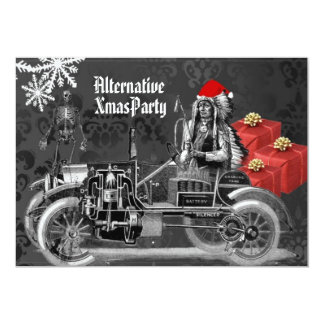 Alternative  Gothic Steampunk   Christmas 13 Cm X 18 Cm Invitation Card