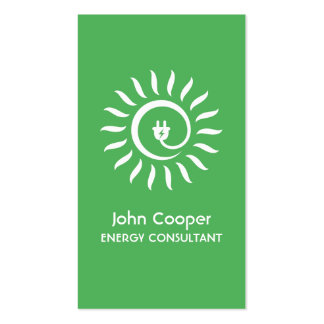 Alternative green energy consultant business card