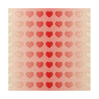 Alternative Guestbook Candy Hearts Red and Pink Wood Prints