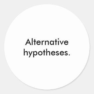'Alternative hypotheses.' Stickers