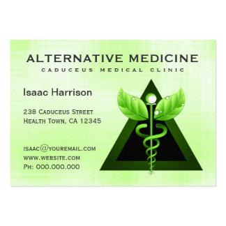 Alternative Medicine Light Green Caduceus Large Pack Of Chubby Business Cards