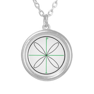 Alternative Peace Symbol Silver Plated Necklace