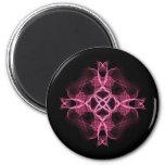 Alternative Pink Celtic Cross 6 Cm Round Magnet