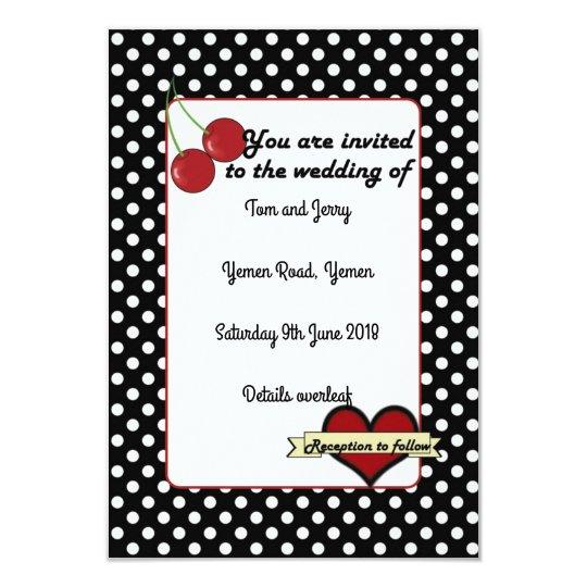 Alternative Rockabilly Wedding Invite