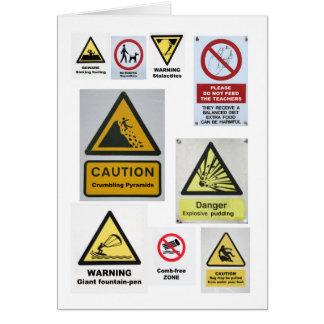 Alternative signs card