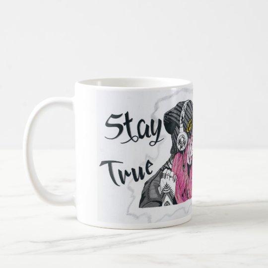 Alternative Tattooed Pink Hair Girl Mug. Stay True
