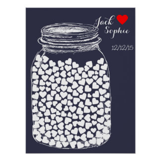 Alternative wedding guest book mason chalk 150