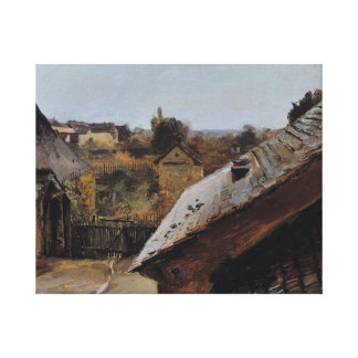 Altesnational.view-of-roofs-and-gardens Canvas Print