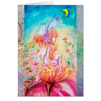 ALTHEA /Whimsical Fairy on the Pink Flower Greeting Card
