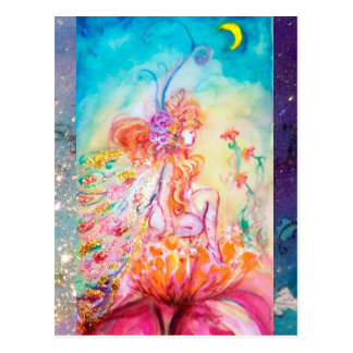 ALTHEA /Whimsical Fairy on the Pink Flower Postcard