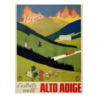 Alto Adige (South Tyrol) Italy Vintage Travel Postcard