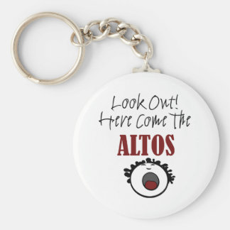 Alto Basic Round Button Key Ring