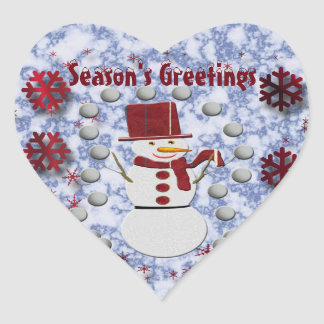 Alto Cheerful Snowman Heart Sticker