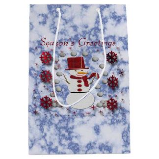 Alto Cheerful Snowman Medium Gift Bag