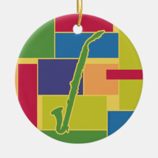 Alto Clarinet Colorblocks Ornament