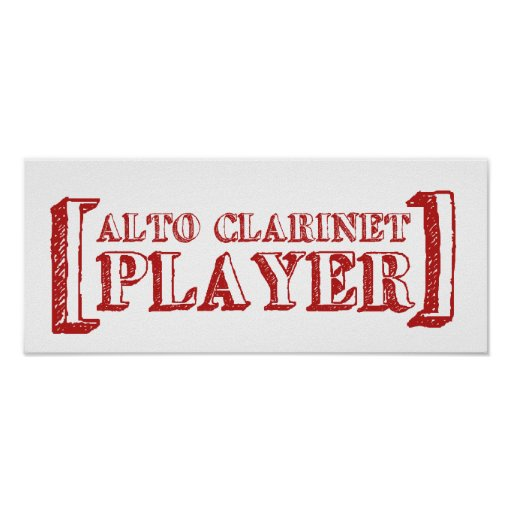 Alto Clarinet  Player Posters