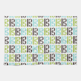 Alto Clef Pattern Tea Towel