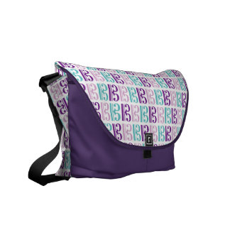 Alto Clef - Purple and Teal Courier Bag