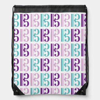 Alto Clef - Purple and Teal Backpack