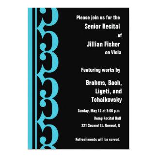 Alto Clef Themed Recital 13 Cm X 18 Cm Invitation Card
