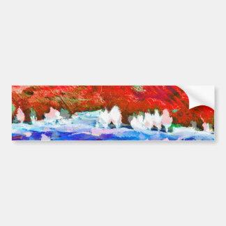alto ilmari - autumn landscape bumper sticker